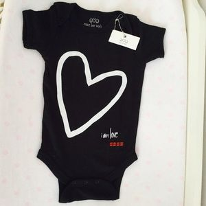 Peace Love World One Pieces Nwt Black Graphic Heart Onesie Peace Love World